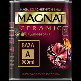 Краска керамическая для интерьеров Magnat CERAMIC база А белая матовая 900 мл