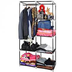 Тканинний шафа storage wardrobe 2 секції 105х45х170 см Коричневий YG105, КОД: 1677640