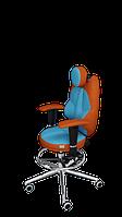 Детское эргономичное кресло KULIK SYSTEM TRIO Оранжевое с бирюзовым 1403, КОД: 1335568
