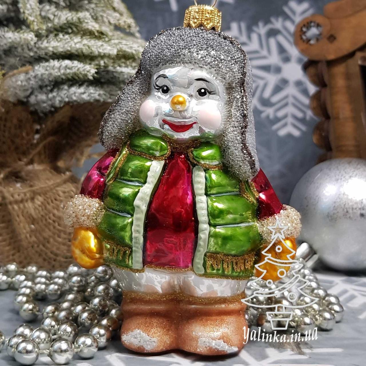 Снеговик в жилете и шапке ушанке Irena