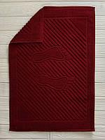 Махровое полотенце для ног, Туркменистан, 700 гр\м2, рубиновый 50 x 70см, фото 1