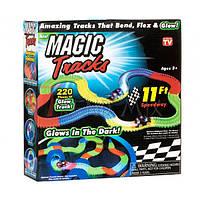 Детский светящийся гибкий трек - конструктор Magic Tracks на 220 деталей, от 3х лет, пластик, трек гоночный,, фото 1