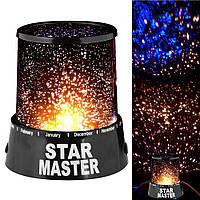Ночник - проектор звездного неба в детскую Star Master от сети/батареек AA, пластик, ночник детский Star