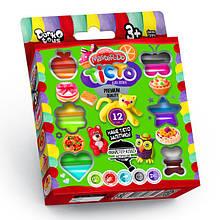 Тесто для лепки Master-Do DankO toys 12 цветов 7521DTR, КОД: 257684