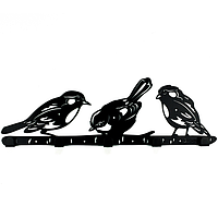 Вешалка настенная Glozis Birds H-066 50 х 16 см, КОД: 241746