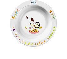 Детская глубокая тарелка Avent 12 + (SCF704/00)