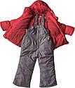 Детский зимний комбинезон на девочку рост 92 1,5-2 года для малышей детей раздельный холлофайбер красный, фото 2