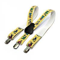 Детские Подтяжки Gofin suspenders С Клоунами Желтые Pbd-15004, КОД: 389939