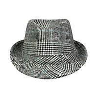 Шляпа Trilby Alan 58 59см Серый + Синий 21059, КОД: 1402887