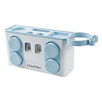 Настенный держатель зубных щеток RIAS MA0077 с дозатором для пасты (2_009774)
