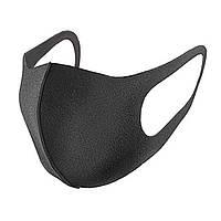 Многоразовая маска для лица Неопрен Черный RI0681, КОД: 1632873