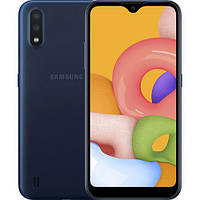 Смартфон Samsung Galaxy A01 A015F 2 16GB Dual SIM Blue SM-A015FZBDSEK, КОД: 1701643