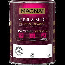 Краска керамическая для интерьеров Magnat CERAMIC база А белая матовая 4,5 л