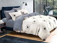 Семейный набор хлопкового постельного белья Черешенка из Бязи Gold 157305AB, КОД: 2401042