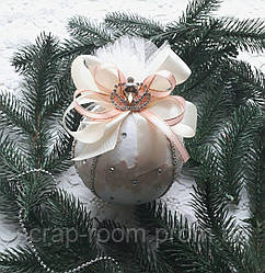 Новогодний шар, елочный шар, шар новогодний ручной работы, шар ручная работа 10 см, новый год 2021
