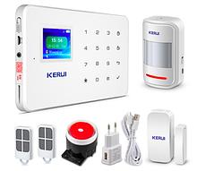 Комплект сигнализации GSM KERUI G-18 plus Белый GHFBDGY4369FKKF, КОД: 922723