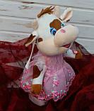 Мягкая музыкальная игрушка, бычок, 29см, поет песни на русском языке, на батарейках, ходит, в кульке C 43996, фото 2