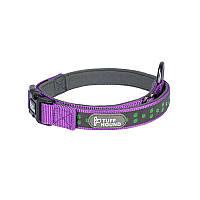 Светоотражающий ошейник для собак TUFF HOUND 1537 Purple M с утяжкой 5317-16512, КОД: 2402543