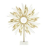 Металевий декор на мармуровій підставці Ambriz 287 білого кольору з золотом