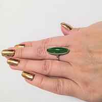 Кольцо серебряное сзеленым хризопразом Джес, фото 1