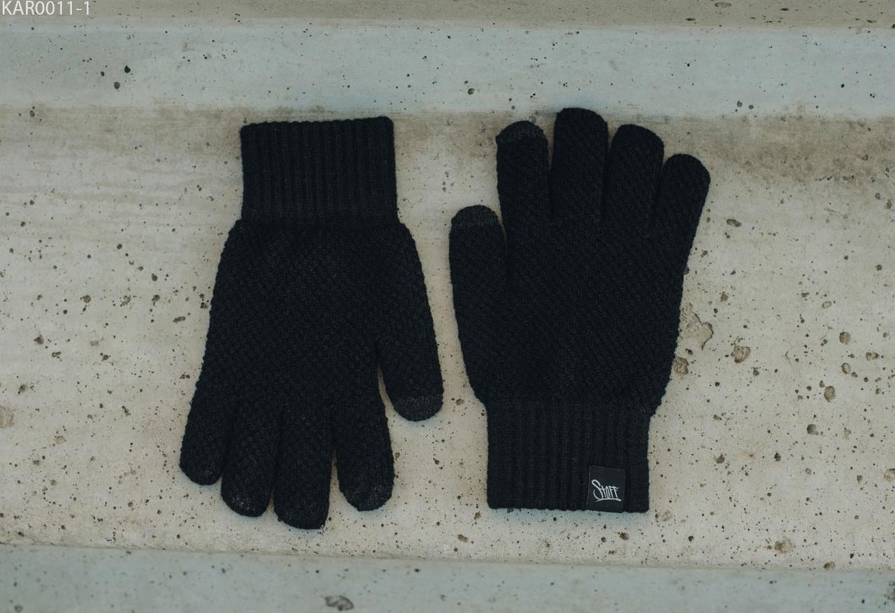 Перчатки вязаные мужские Staff black size S-M Цвет: - чёрный.