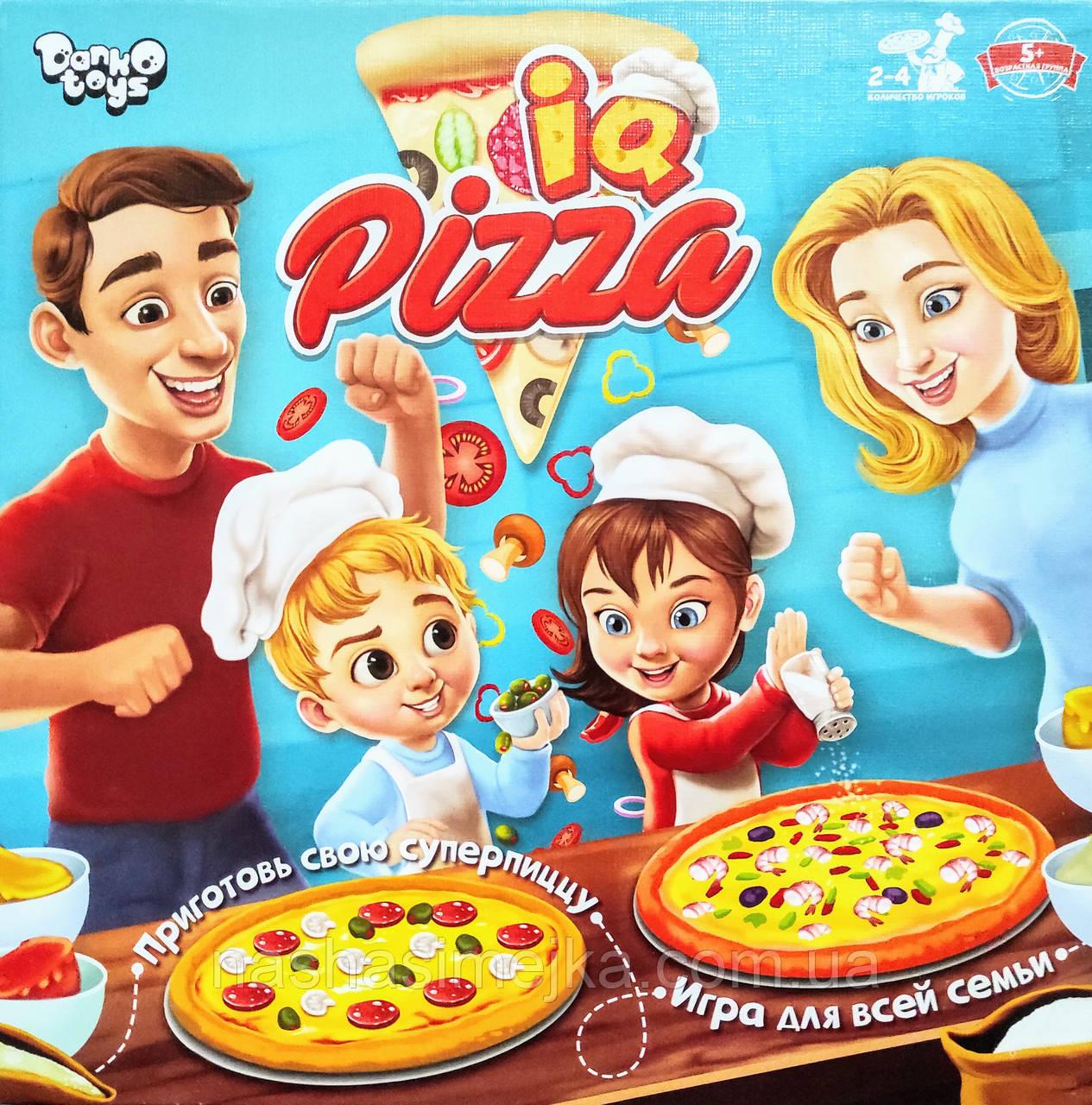 Настільна гра для всієї родини IQ Pizza 5+ (для 2-4 гравців) (Danko Toys)