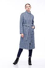 Женское пальто ORIGA Ирис 42 Сине-голубой с белым, КОД: 2373949