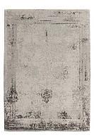 Винтажный ковёр с плоским ворсом ручной работы Nostalgia 285, тёмно-серый антрацит