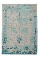 Винтажный ковёр с плоским ворсом ручной работы Nostalgia 285, песочный, серо-бежевый, бирюзовый