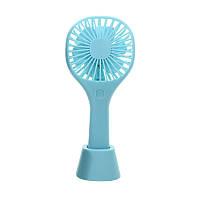 Портативный мини вентилятор LeskoYS-200 Blue ручной USB с подставкой 4689-14491, КОД: 2402162