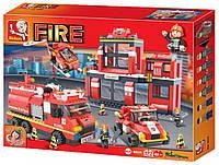 Конструктор Пожарные спасатели 745 деталей  М38-В0227 , фото 1