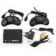HAMY 4 игровая приставка Sega+Dendy | 350 встроенных игр 8-16 бит | поддержка карт памяти | чёрная, фото 2