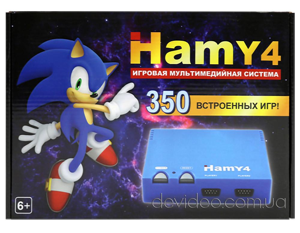 HAMY 4 игровая приставка Sega+Dendy | 350 встроенных игр 8-16 бит | поддержка карт памяти | чёрная