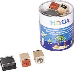 Набор штампов Heyda Пираты и Астронавты,15 шт 204888486, КОД: 1919013