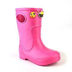 Резиновые сапоги детские для девочки EVA Jose Amorales с украшениями 22 р Розовый joa1171602, КОД: 2374095