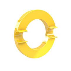 Магнит-держатель супермощный Dahle Mega Circle 80 мм Желтый 4009729068014, КОД: 1837903