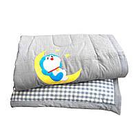 Детское одеяло в кроватку демисезонное, 120/150 см, ткань хлопок, наполнитель холлофайбер, производство Турция