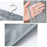 Подвесной органайзер для хранения сумок. Серый, фото 3