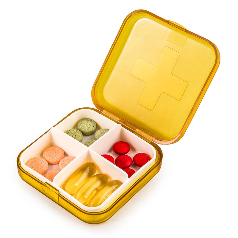 Карманная таблетница Pocket Pill Case Mini. Оранжевый