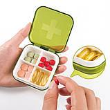 Карманная таблетница Pocket Pill Case Mini. Оранжевый, фото 5