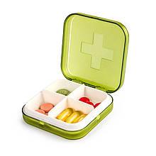 Карманная таблетница Pocket Pill Case Mini. Зеленый