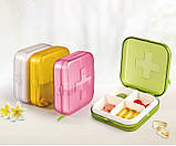 Карманная таблетница Pocket Pill Case Mini. Зеленый, фото 3