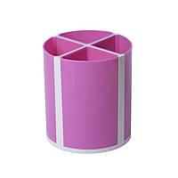Подставка для пишущих принадлежностей ZiBi ТВИСТЕР 4 отделения розовая ZB.3003-10, КОД: 2448124