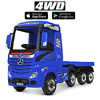 Электромобиль детский Грузовик Mercedes-Benz M 4208EBLR-4(2)   Длина 202 см, 4WD, 4 мотора 35W, колеса EVA,MP3