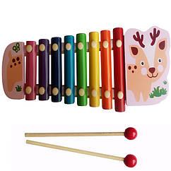 Деревянная игрушка Ксилофон Woki Разноцветный MD0712R, КОД: 288037