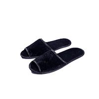 Тапочки велюровые для дома отеля Luxyart 20 шт Черный ZF-137, КОД: 1383037