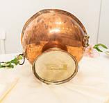 Старая медная чаша для пунша с львиными головами вместо ручек, кашпо, горшок, медь, Англия, фото 8