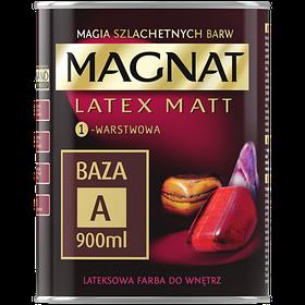 Краска латексная матовая Magnat Latex Matt База А БЕЛЫЙ 900 мл