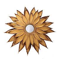 Металеве настінне дзеркало Lidia 101 до золотистої рамі