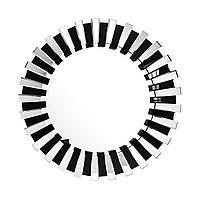 Настінне дзеркало Apollon 910 в чорній рамі з сріблом